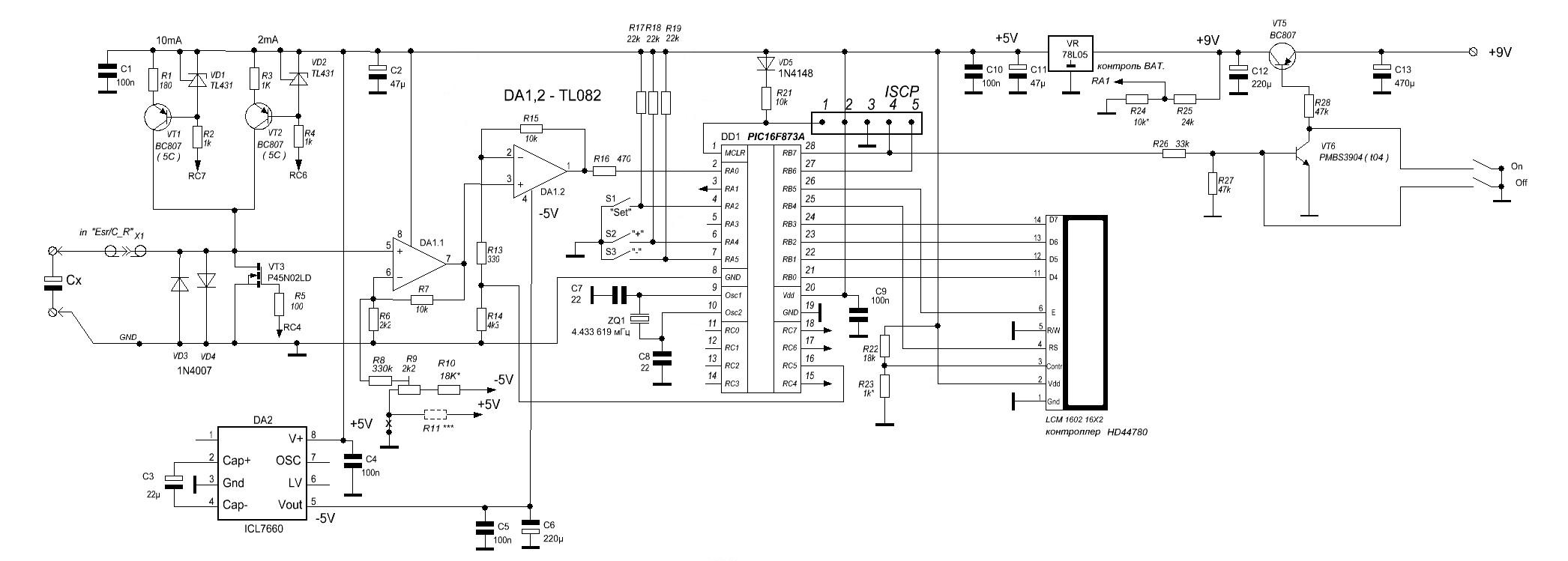 Прибор для проверки оксидных конденсаторов на ЭПС (ESR ...